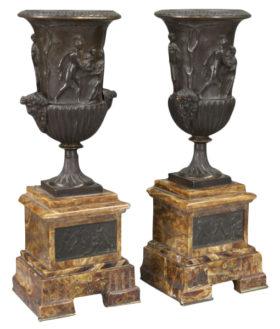 French Neoclassical 3 Piece Garniture Clock
