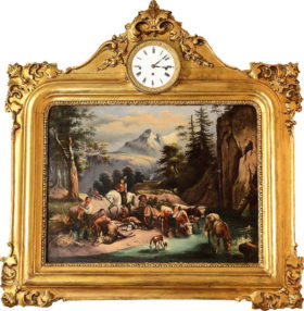 Austrian Musical Painting Clock