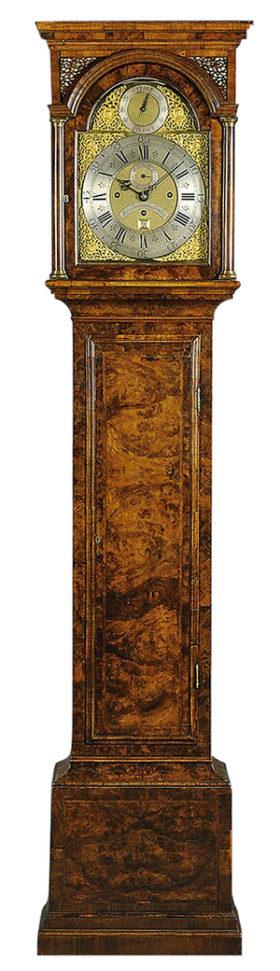 18th Century Burl Walnut Tall Case Clock