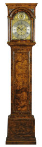 18th Century Burl Walnut Tall Case Clock