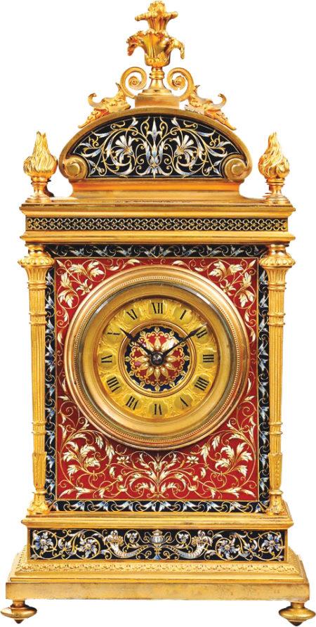 French Gilt Bronze ChamplevŽ Clock