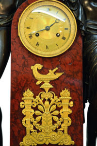French Monumental Empire Style Mantel Clock