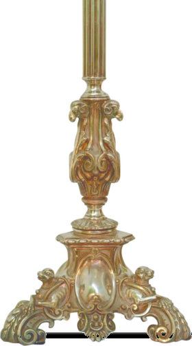 English Oversize Finely Cast Silver Plate Oil Lamp