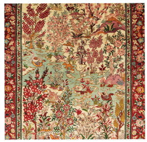 Exceptional Silk Landscape Carpet