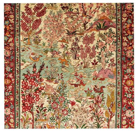Exceptional Silk Landscape Carpet