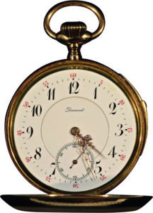 French 14K Gold 1/4 Hour Repeating Pocket Watch