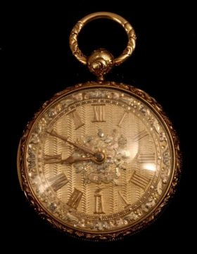 English 18K Gold Fusee Pocket Watch