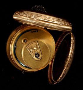 English 18K Gold Fusee Pocket Watch
