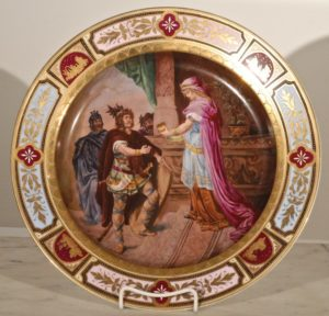 Austrian Large Royal Vienna Hand Painted