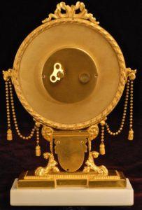 American Swiss Exceptional Gilt Brass Desk Clock