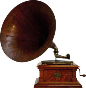 American 78 RPM Victor Talking Machine With Oak Horn Model V