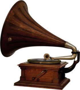 American 78 RPM Victor Talking Machine With Oak Horn Model V