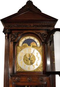 American Waterbury Mahogany Hall Clock