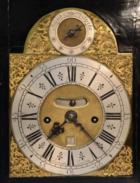 English Basket Top Bracket Clock by George Etherington