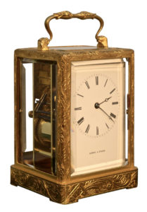 French Early One Piece Case Carriage Clock