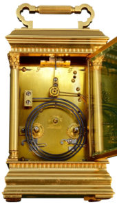 French Corinthian Case Carriage Clock