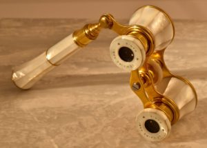 French Mother of Pearl Gilt Brass Opera Glasses