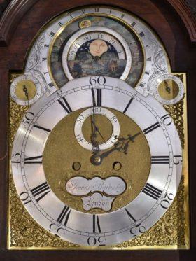 English Tall Case Clock Rare Astronomical Model