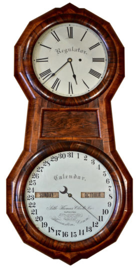 American Seth Thomas Office #1 Double Dial Calendar Clock