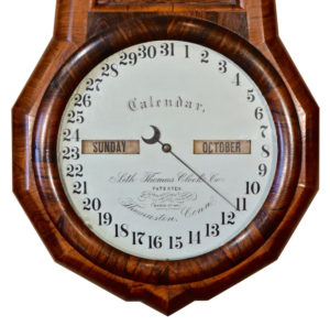 American Seth Thomas Office #1 Double Dial Calendar Clock