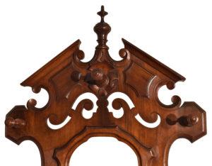 American Victorian Walnut Halltree With Mirror