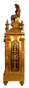 French Oversize Gilt Bronze Mantel Clock