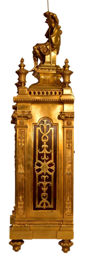 French Oversize Gilt Bronze Mantel Clock
