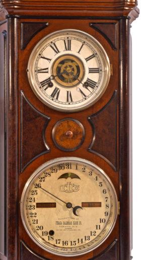 American Ithaca #5 Emerald Double Dial Perpetual Calendar Clock