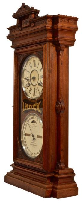 American Index Double Dial Perpetual Calendar Clock