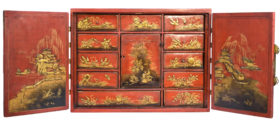 Chinese Red Lacquer Chest