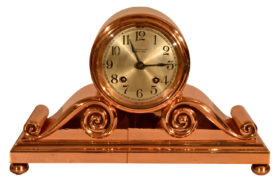American Chelsea Clock Co. Tambour #2 In Copper