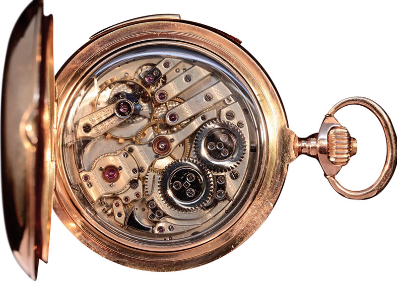 Exceptional Automaton Minute Repeating Pocket Watch by Jaeger Le Coultre