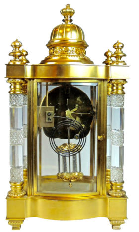 American Ansonia Utopia Cut Glass Crystal Regulator Clock
