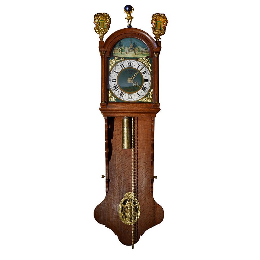 Dutch Frisian Staart Tail Wall Clock Renaissance Antiques