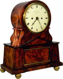 English Rare Regency Egyptian Style Bracket Clock