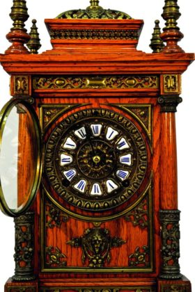 English Two Train Chain Fusee Lantern Clock