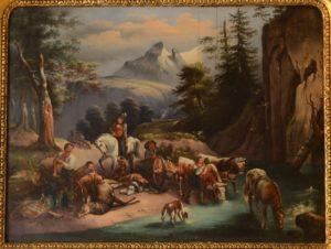 Austrian Musical Painting Clock