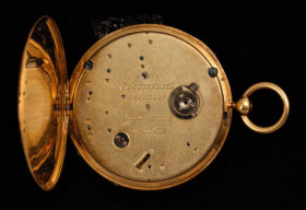 Ultra Thin Enamel Pocket Watch