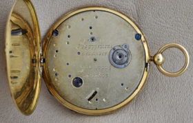 Ultra Thin Enamel Pocket Watch