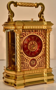 Red Enamel Carriage Clock