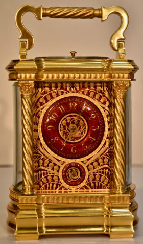 Red Enamel Carriage Clock
