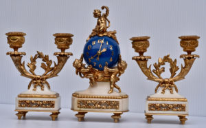 French Miniature 3 Piece Garniture Set