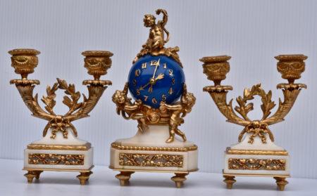 French Miniature 3 Piece Garniture Set