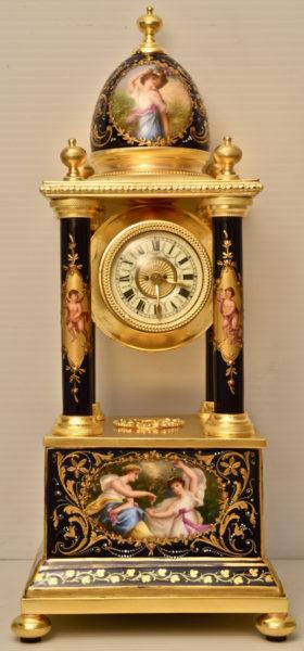Austrian Miniature Portico Clock