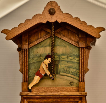 German Animated Acrobat Clock