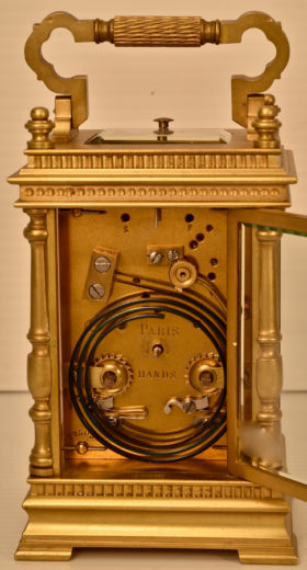French Carriage Clock in Corinthian Case