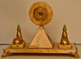 Desk Clock with Egyptian Motif