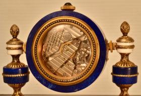 Lapis Lazulis Desk Clock
