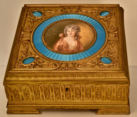 Cast Brass Boudoir Box