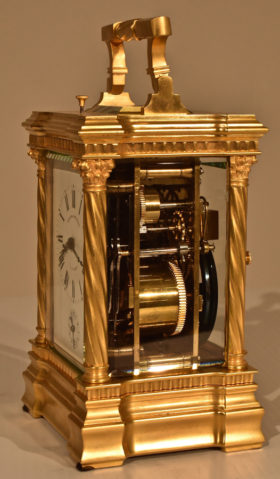 French Gilt Brass Carriage Clock